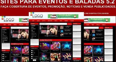 Criação de sites para eventos e baladas