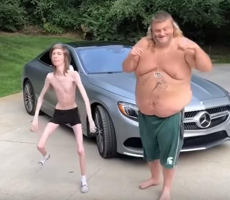 Magrelo e Gordo no rock
